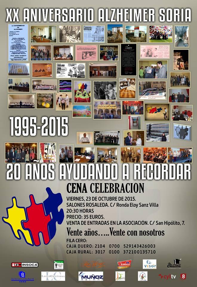 Cena de celebración del XX Aniversario de la Asociación de familiares de enfermos de Alzheimer