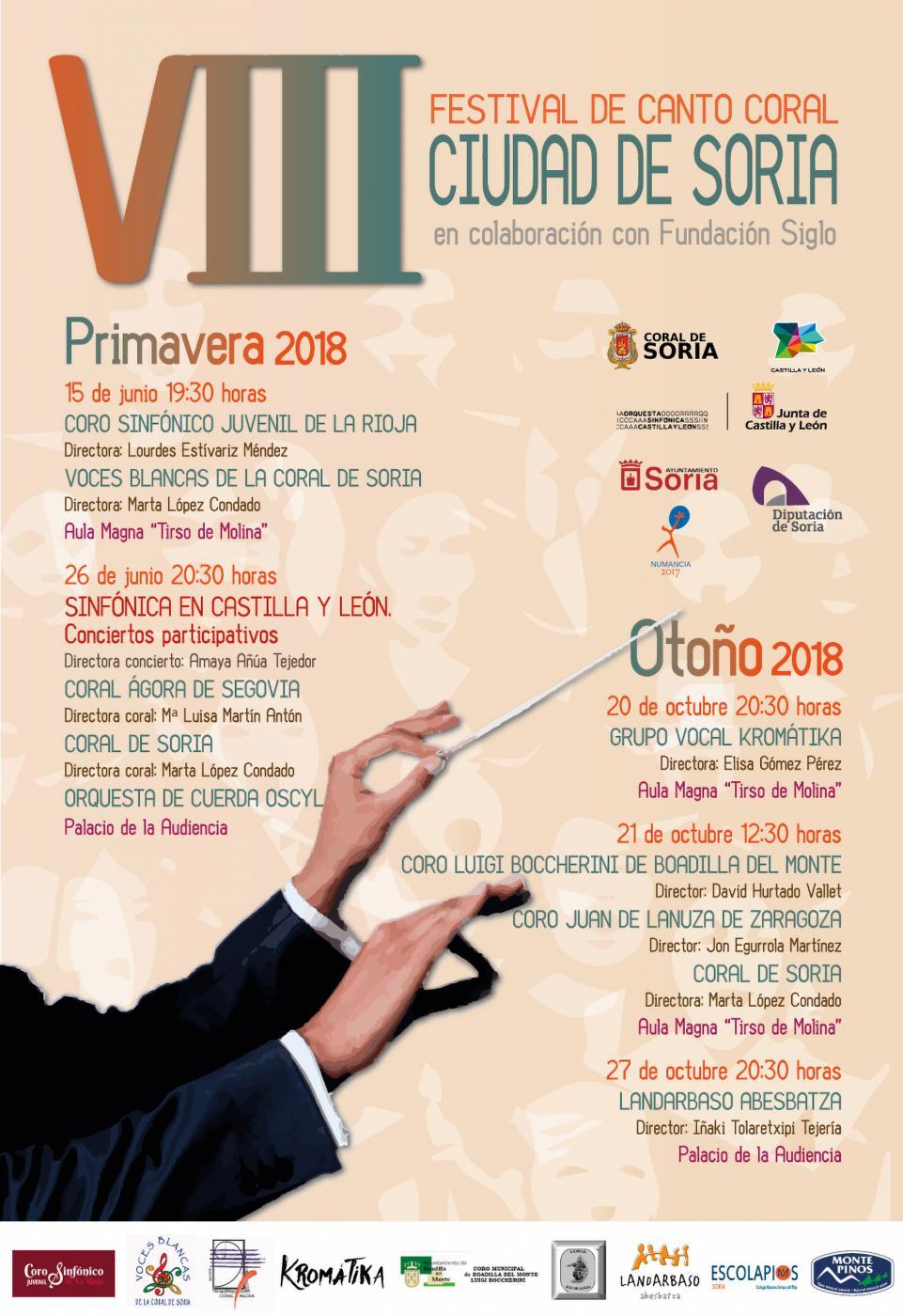 El 15 de junio comienza el VIII Festival de canto coral 'Ciudad de Soria'