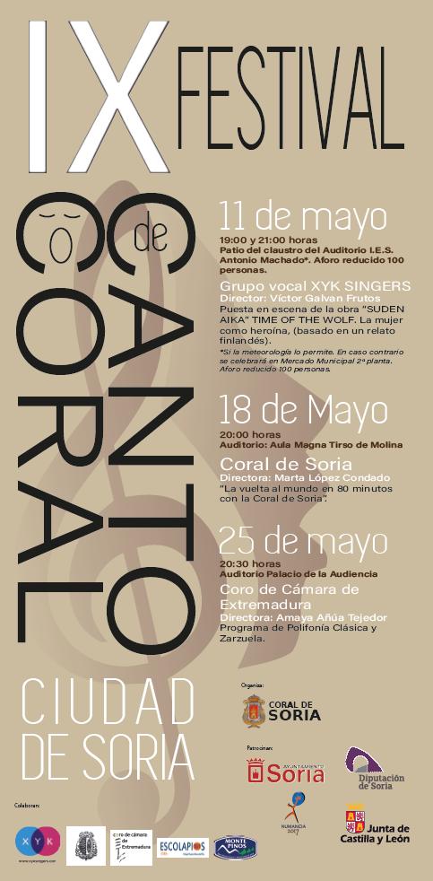 IX FESTIVAL DE CANTO CORAL CIUDAD DE SORIA