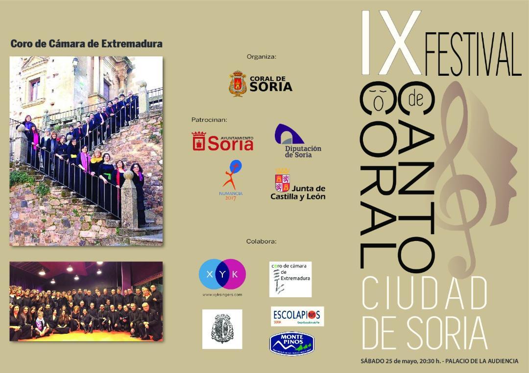 IX FESTIVAL DE CANTO CORAL CIUDAD DE SORIA: 3 Concierto. Coro de Cámara de Extremadura