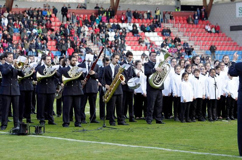 Interpretación del Himno del CD Numancia en su 70 aniversario