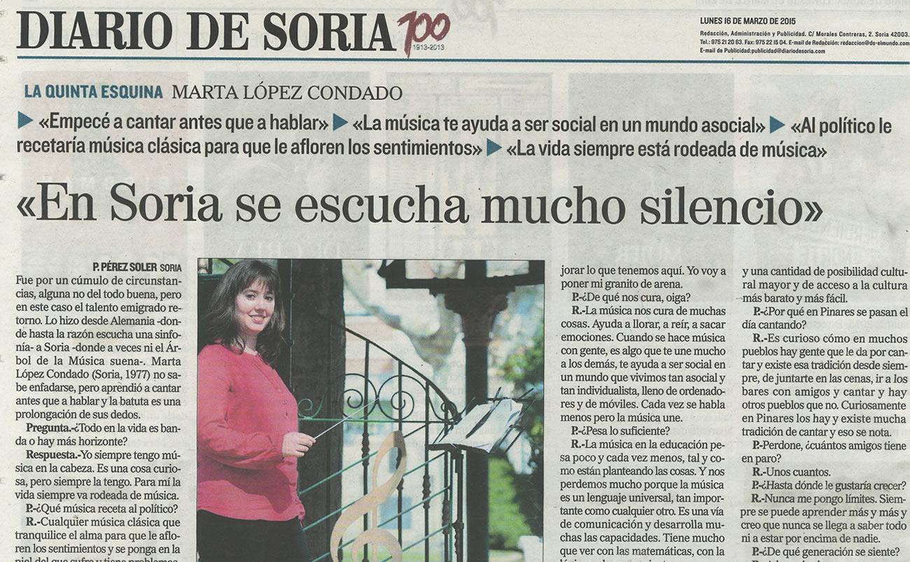 Entrevista a nuestra Directora en Diario de Soria