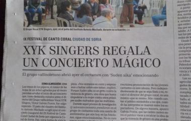 Actuaciones de XYK SINGERS en Soria